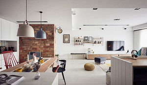 72平米北欧风格轻松简约公寓装修效果图赏析