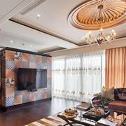 欧式风格精致客厅电视背景墙装修效果图赏析