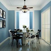 地中海风格简约蓝色餐厅装修效果图赏析