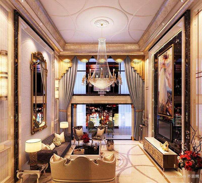 古典欧式风格精装时尚别墅室内装修效果图
