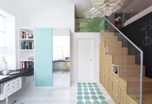 68平米后现代风格简约loft公寓装修效果图