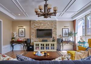 混搭风格时尚精美三室两厅室内装修效果图赏析