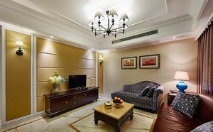 121平米简约美式风格精致三室两厅室内装修效果图赏析