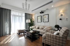 98平米简约美式风格精致两室两厅室内装修效果图
