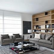 现代风格精致客厅书房一体装修效果图欣赏