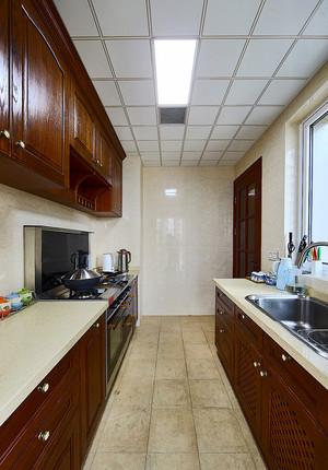 124平米美式混搭风格精致三室两厅室内装修效果图