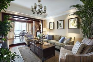 美式风格精致客厅阳台装修效果图赏析