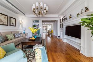 133平米欧式风格精美大气三室两厅室内装修效果图