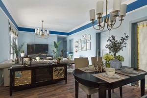 107平米清新美式风格两室两厅一卫装修效果图