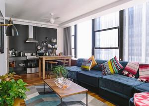 66平米现代风格时尚公寓装修效果图鉴赏