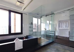 现代风大户型精致卫生间淋浴房装修效果图