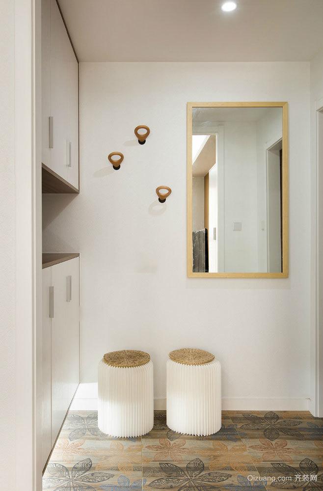 78平米宜家风格简约浅色两室两厅室内装修效果图赏析