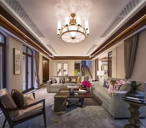 340平米中式风格古典气质别墅室内装修效果图