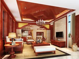 中式风格精致客厅吊顶设计装修效果图赏析