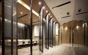 现代风格精致会议室隔断设计装修效果图