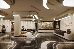 中式风格美容院前台装修效果图欣赏