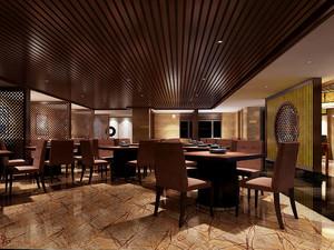 中式风格古典精致中餐厅装修效果图