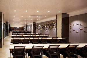 中式风格精致大型会议室装修效果图赏析