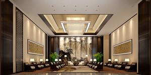 中式风格精致五星级酒店宴会厅装修效果图