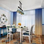 地中海风格精美餐厅背景墙装修效果图