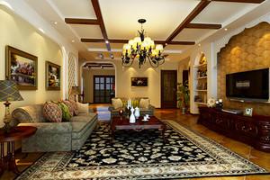 美式混搭风格精致复古复式楼室内装修效果图赏析