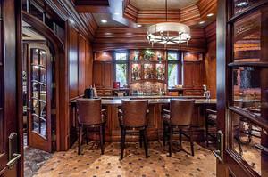 美式风格别墅室内餐厅装修效果图赏析