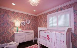 美式风格粉色甜美儿童房装修效果图赏析