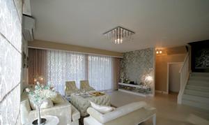 欧式风格温馨浅色复式楼室内装修效果图赏析