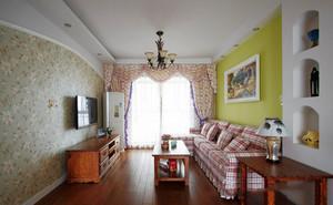 欧式田园风格客厅装修效果图欣赏