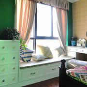 田园风格温馨儿童房飘窗设计装修效果图赏析