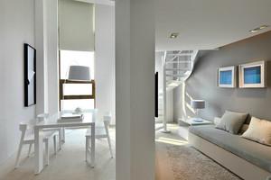 79平米现代简约风格白色小复式装修效果图