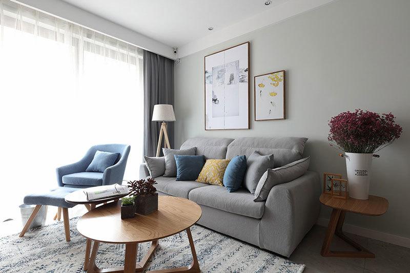 74平米宜家风格简约轻松两室两厅室内装修效果图