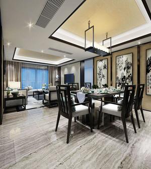 中式风格古典精致典雅两室两厅室内装修效果图