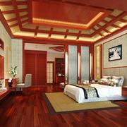 中式风格大户型精致卧室吊顶设计装修效果图