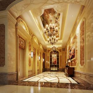 欧式风格豪华精致酒店吊顶设计装修效果图