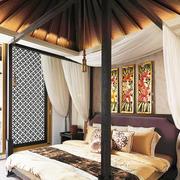 东南亚风格别墅室内卧室吊顶装修效果图