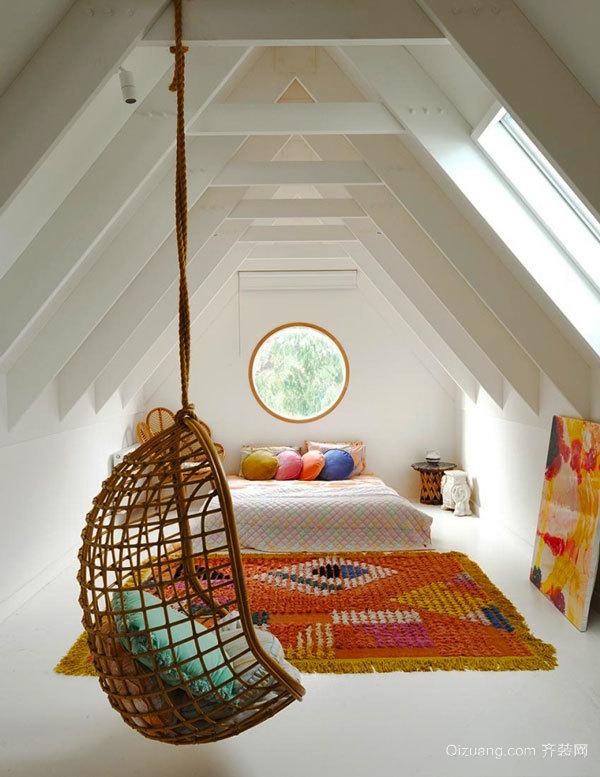 欧式风格简约阁楼卧室装修效果图赏析
