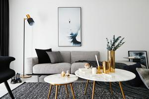 85平米后現代風格精致兩室兩廳室內裝修效果圖