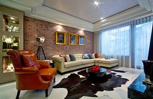 109平米简欧风格时尚三室两厅室内装修效果图赏析
