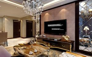 欧式风格低调奢华客厅电视背景墙装修效果图
