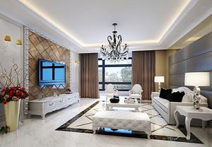 102平米欧式风格精致两室两厅室内装修效果图