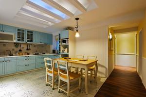 112平米田园风格温馨时尚三室两厅室内装修效果图