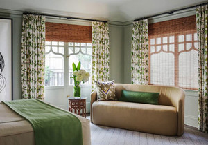 欧式田园风格卧室窗帘设计装修效果图赏析