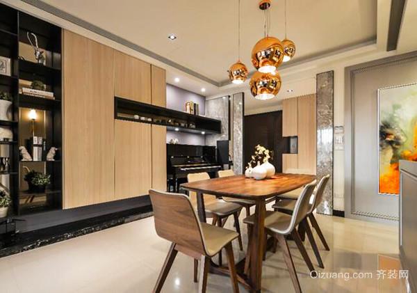 100平米现代风格简约原木色室内装修效果图赏析