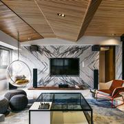 现代风格大户型精致客厅电视背景墙装修效果图