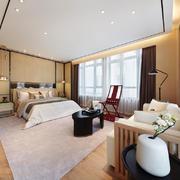 中式风格别墅室内典雅主卧室装修效果图