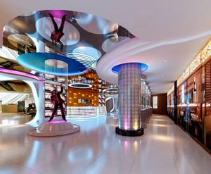 现代风格时尚KTV大厅设计装修效果图
