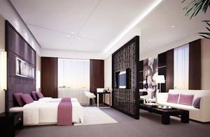 新中式风格精致宾馆客房装修效果图