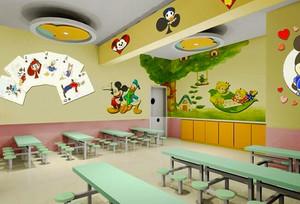 现代简约风格幼儿园餐厅装修效果图