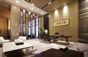 新中式风格精致老总办公室装修效果图